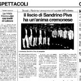 Il liscio di Sandrino Piva ha un'anima cremonese