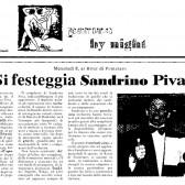 Si festeggia Sandrino Piva, disco d'oro 1990